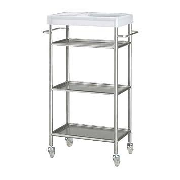 IKEA GRUNDTAL carrello in acciaio inox: Amazon.it: Casa e cucina