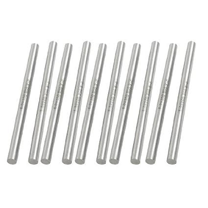 DealMux 10 Pcs aço de alta velocidade Torno Round Bar fresa 6 milímetros x 100 mm
