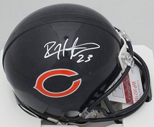 (Devin Hester Chicago Bears Signed Autograph Mini Helmet JSA Witnessed)