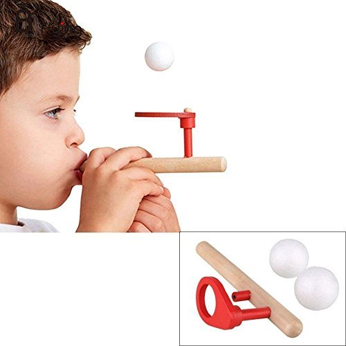 (Kids Wooden Flute Blowing Balance Floating Ball Game Children Educational Toy)