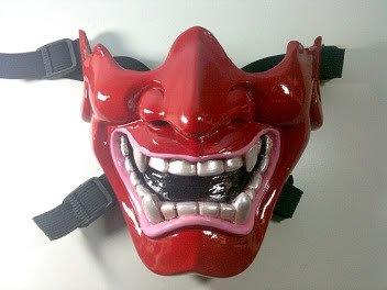 Red Kabuki warrior,Airsoft face mask,Paintball masks,Paint ball mask,Army of two airsoft mask,Masks painball,Mask Half cover,BB gun