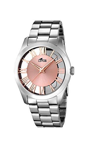 🥇 Lotus Watches Reloj Análogo clásico para Mujer de Cuarzo con Correa en Acero Inoxidable 18122/1