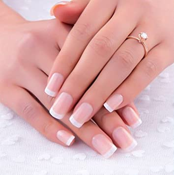 Kunstliche Fingernagel False Nail Tips Fake Nails French Style
