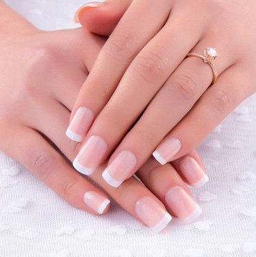 uñas postizas False Nail Tips Fake Nails, French Style abs05 ...
