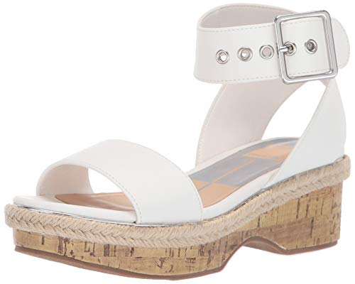- Dolce Vita Girls' Adriel Wedge Sandal, White Nubuck Stella, 1 M US Little Kid