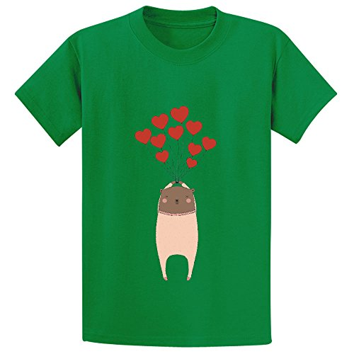Bear With Love Boys Crew Neck Print T Shirt Green