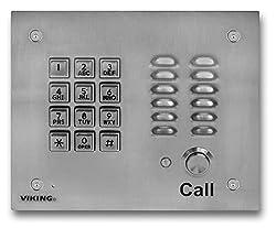 Viking Electronics K-1700-3 Handsfree Phone Wkey Pad - Stainless