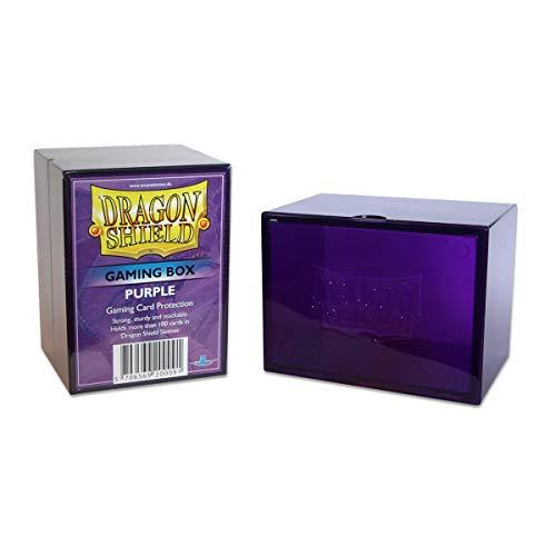 Dragon Shield Gaming Box Purple Durable Heavy Duty Hard Plastic Deck Case Protector