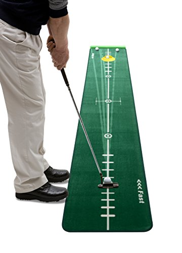 Track Putting Mat Edition 2, Medium, 300 x 50 Centimeter, Including Ballstopper, Realistic Silicone Putting-Cup, Underlay Wedges and Eraser...