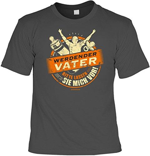 T-Shirt - Werdender Vater - Lassen Sie mich vor grau - lustiges Sprüche Shirt als Geschenk für Väter mit Humor