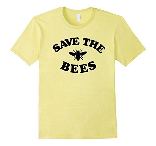 Mens Save The Bees | Endangered Bee Awareness Novelty T-shirt Small - Save The Apparel Bees