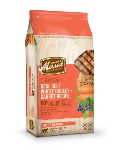 Merrick Classic 15-Pound Adult Real Beef, Whole Barley and Carrots Dog Food, 1 Bag, My Pet Supplies
