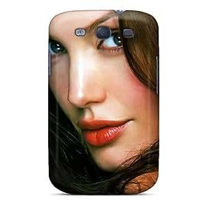 TVbYQ8903kNghP WWOStore Angelina Jolie Face Durable Galaxy S3 Tpu Flexible Soft Case