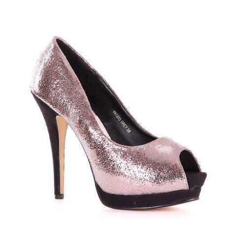 Womens HIGH Heel Court HIGH Heel Shoes new Designer shoes Silver - silver R65GW