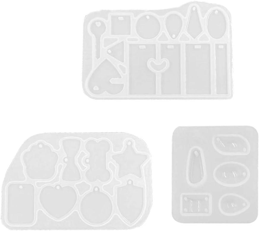 Eliky DIY All Shape - Colgante Cuadrado con Forma de Gota de té, Ovalado, Piedra Preciosa, Colgante con Forma de Resina