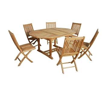 salon de jardin en bois de teck 6 8 places - Salon De Jardin Teck