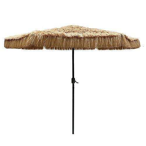 Le Papillon 9-Foot Tiki Hawaiian Patio Umbrella Thatched Umbrella (Umbrellas Thatched Sale)