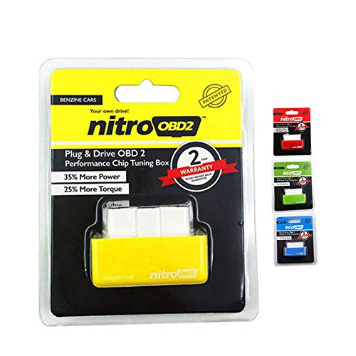 Yourshops Auto Tuning Box NitroOBD2 Car Power Booster Fuel Saver ECU Improves Power Torque for Gasoline Vehicels 1Pack