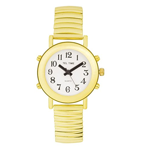 Ladies Royal Tel-Time Talking Watch - White Dial - Expansion Band