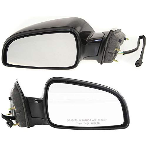 Power Mirror compatible with Saturn Aura 07-09/ Chevy Malibu 08-12 Right and Left Side Manual Folding Non-Heated Paintable