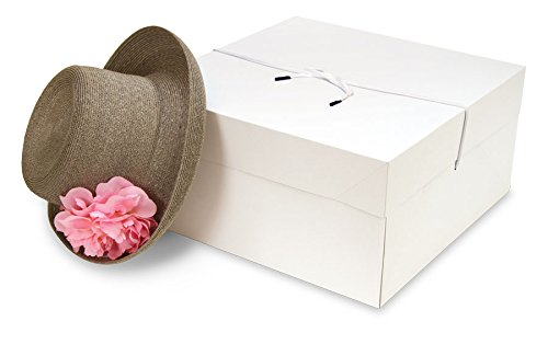 Count of 25 New Retail Two-Piece Bulky White Gift Box 14'' x 14'' x 7''