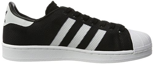 Adidas Superstar Mens Utbildare Svart Vit - 8 Uk