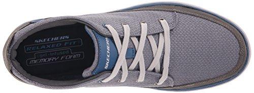 Skechers Usa Mens Palen Veterschoen Sneaker Grijs