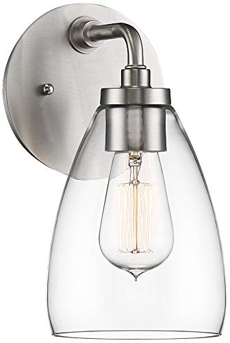 """Price comparison product image Possini Euro Raden 10"""" High Brushed Nickel Wall Sconce"""