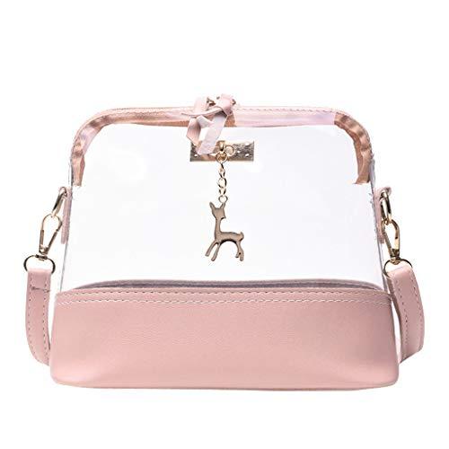 lmx+3f Mother's Day Totes Messenger Bag for Women Transparent Crossbody Bag Fawn Pendant Shell Shoulder Bag Handbag