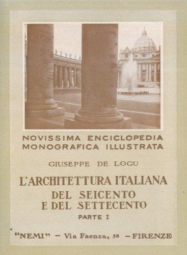 L Architettura Italiana Del Seicento E Del Settecento