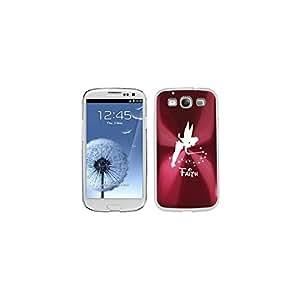 Rose Red Samsung Galaxy S III S3 Aluminum Plated Hard Back Case Cover K386 Fairy Faith