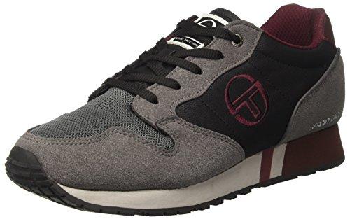 MX 2 Shark Basso Sneaker Black Tacchini a Grigio Reims Collo Sergio 0 Uomo qpwIS6SE