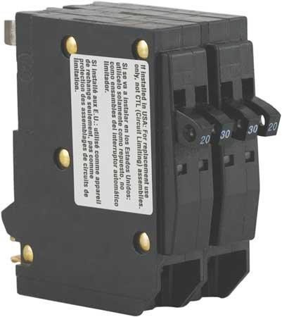 Tandem Plug In Circuit Breaker 1P 20/30 Amp 120/240VAC