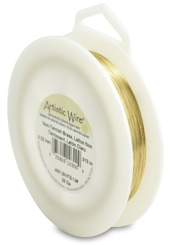 Artistic Wire 28-Gauge Non-Tarnish Brass Wire, 1/4-Pound (Non Tarnish Brass)