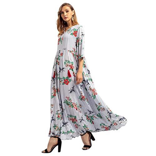 Donna Medio orientale Abito Casual Refurbishhouse Robes Da Vestito S Moda Musulmana Abbigliamento Lungo Stampa Lc4j35ARqS