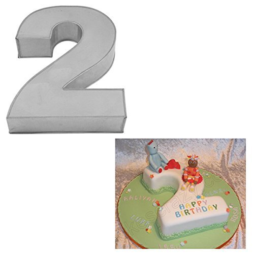 "Small Number Two Birthday Wedding Anniversary Cake Tins/Pans / Mould by Falcon 10"" x 8"" x 2.5"" Deep"