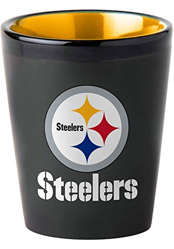 Memory Company NFL Pittsburgh Steelers Two Tone Ceramic Shot Glass from Memory Company