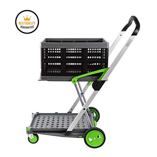 Two Tier Clax Trolley, Multifunctional Portable Folding and Collapsible  Mobile Cart Ideal for Laboratory, Warehouse, Household and Workshop Use