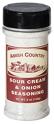 Amish Country Popcorn - Sour Cream & Onion (5 Ounces) Popcorn Seasoning Variety With Recipe Guide
