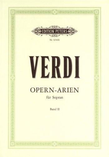 Partitions classique EDITION PETERS VERDI GIUSEPPE - 30 SOPRANO ARIAS VOL.2 - VOICE AND PIANO (PAR 10 MINIMUM) Choeur et ensemble vocal