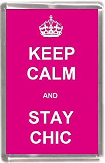 Keep Calm and Stay chic all' ingrosso confezione 12 souvenir frigorifero