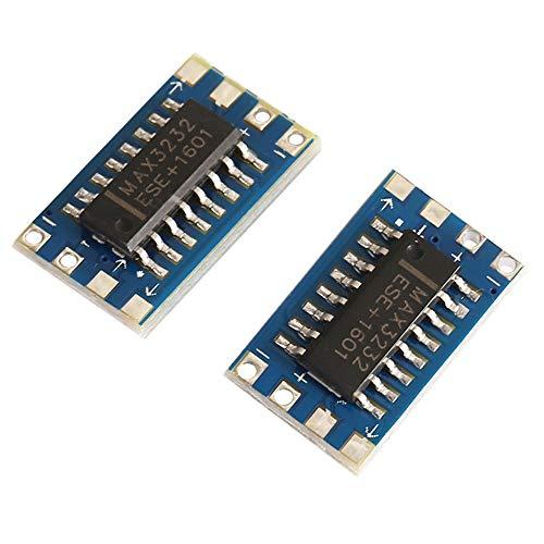 YI-WAN 3-5V RS232 To TTL Converter Adaptor Board Serial Port Module MAX3232 Integrated Circuit Board (2 PCS) Accessory…