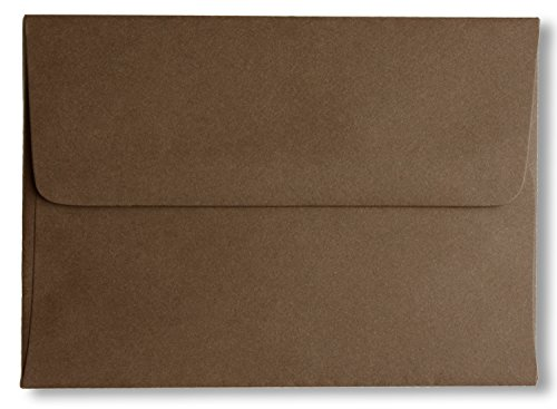 Shipped Free 200 Boxed A7 Dark Chocolate Brown 70lb (5-1/4 X 7-1/4) Envelopes for 5 X 7 Greeting Cards Invitation Photos Birth Announcement Shower Christening Thank Wedding By Envelopegallery (Chocolate Photo Birth Announcement)