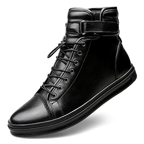 Formales 4344 otoño Cuero Botines Los De Botas Cordones Hombres Hy Con Primavera black Gimnasio Black Zapatos Martins Caminar YnF7UqaB