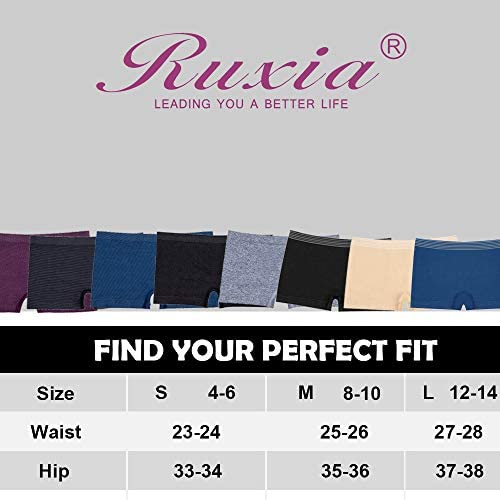 R RUXIA Women's Boyshort Panties Seamless Boxer Briefs Nylon Stretch  Underwear Assorted Colors 5 Pack (5 Pairs(Black, Navy, Melange, London  Blue, Burgandy), M) at Amazon Women's Clothing store
