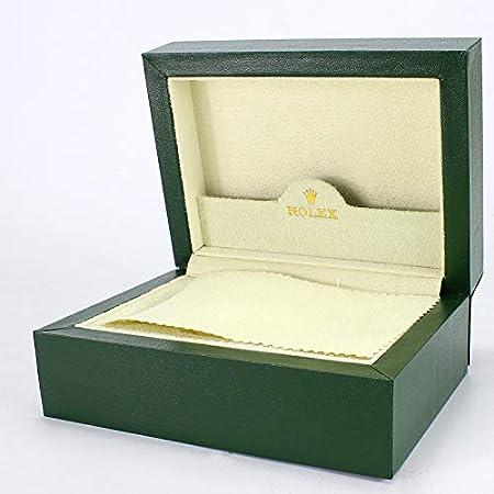 ROUHO Caja De Reloj De Felpa De Terciopelo Largo Verde Caja De Reloj De Alta Gama De Madera Flip Wood para Rolex
