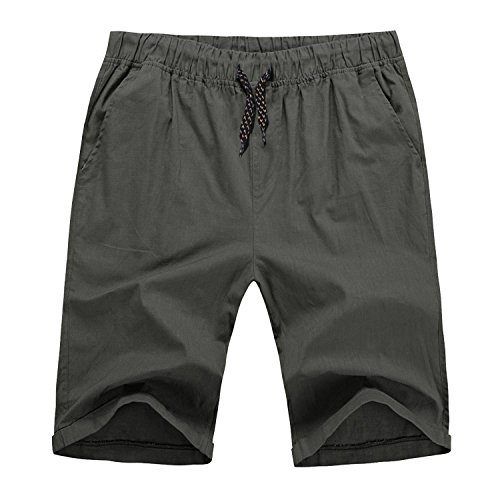 Hat and Beyond Mens Stretch Twill Shorts Active Casual Pants (Medium, 1TO0006_12 Dark Gray)]()