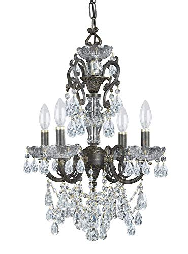 Bronze Light Four Mini Chandelier (Crystorama 5194-EB-CL-I Legacy - Four Light Mini Chandelier, Clear Italian Crystal)