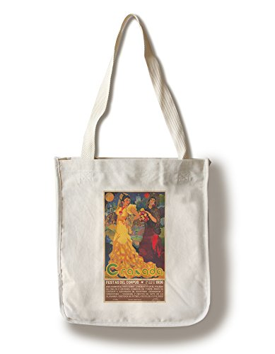 Granada Vintage Poster (artist: Reyes) Spain c. 1936 (100% Cotton Tote Bag - Reusable) by Lantern Press