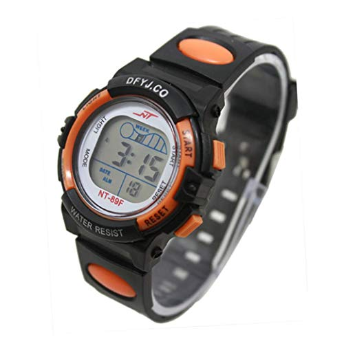 Cebbay Liquidación Imported Girl Boy Reloj Deportivo para niños LED Reloj de Pulsera Fecha de Alarma Multifunción Digital (Rojo): Amazon.es: Relojes